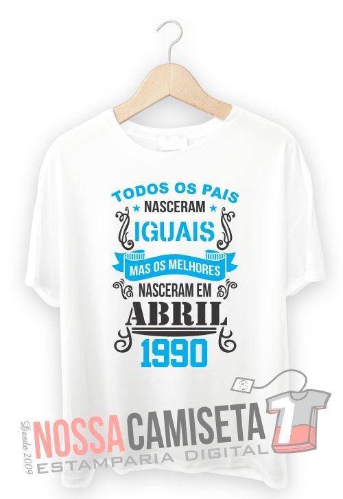 Modelo De Camiseta Dia Dos Pais Todos Os Pais Nascem Iguais Mas Os