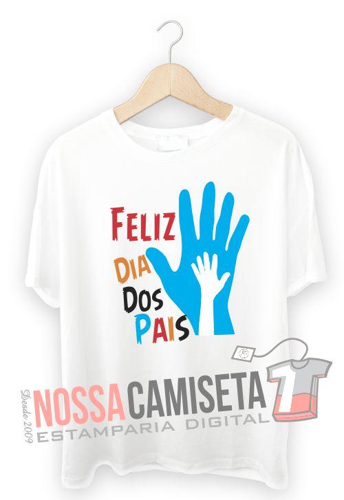 Camiseta dia dos Pais Mãos