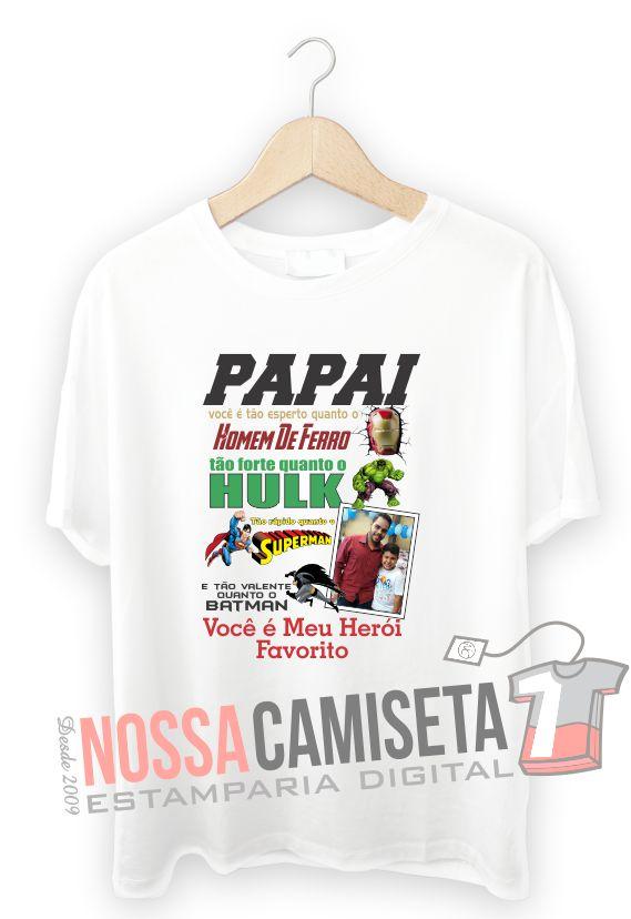 Modelo Camiseta dia dos Pais