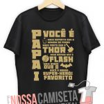 Camiseta super heroi thor batman superman flash Modelo 1 cor