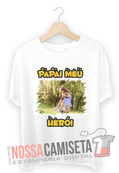 Camiseta do dia Pais com foto