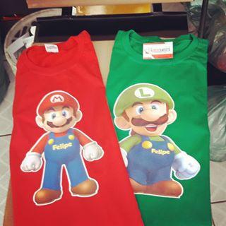 Camiseta Aniversário Super Mario E Luigi