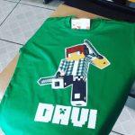 Camiseta Minercraft Davi